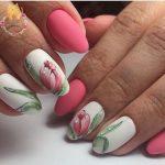 Маникюр с тюльпанами: пошаговый урок + варианты дизайна