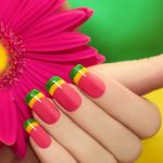 Цветной френч гель-лаком: техника выполнения + фото идей дизайна
