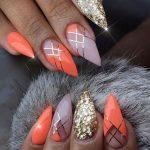 Оранжевый маникюр: 45 фото идей яркого дизайна ногтей
