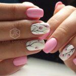 Розовый маникюр 2018-2019: 60 фото идей красивого дизайна ногтей