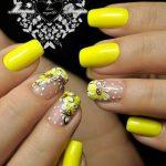 Желтый маникюр: 50 фото идей яркого и модного дизайна ногтей