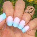 Маникюр градиент: 50 фото идей модного дизайна ногтей
